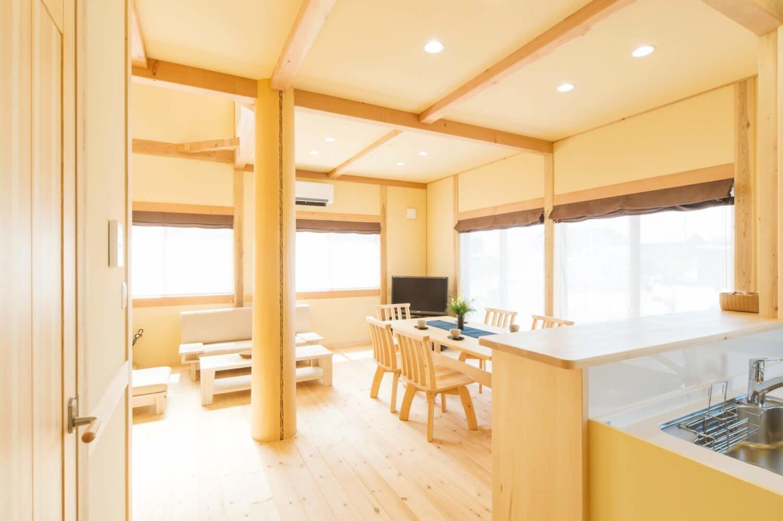 つくばで木の家・注文住宅を建てる工務店ベースポイントの明るい家