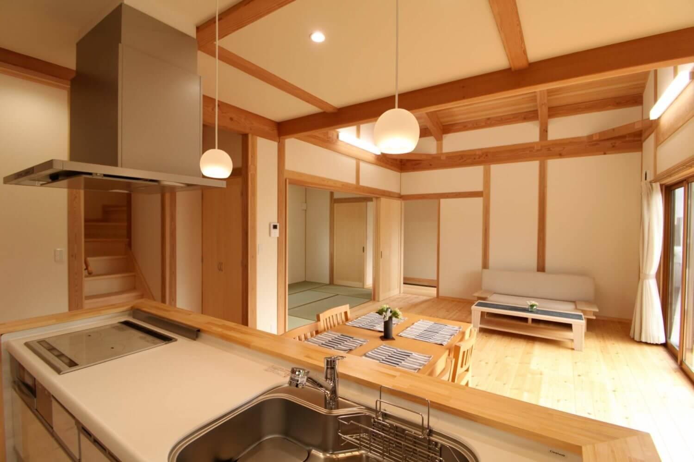 つくばで注文住宅・木の家を建てるベースポイントのキッチン画像