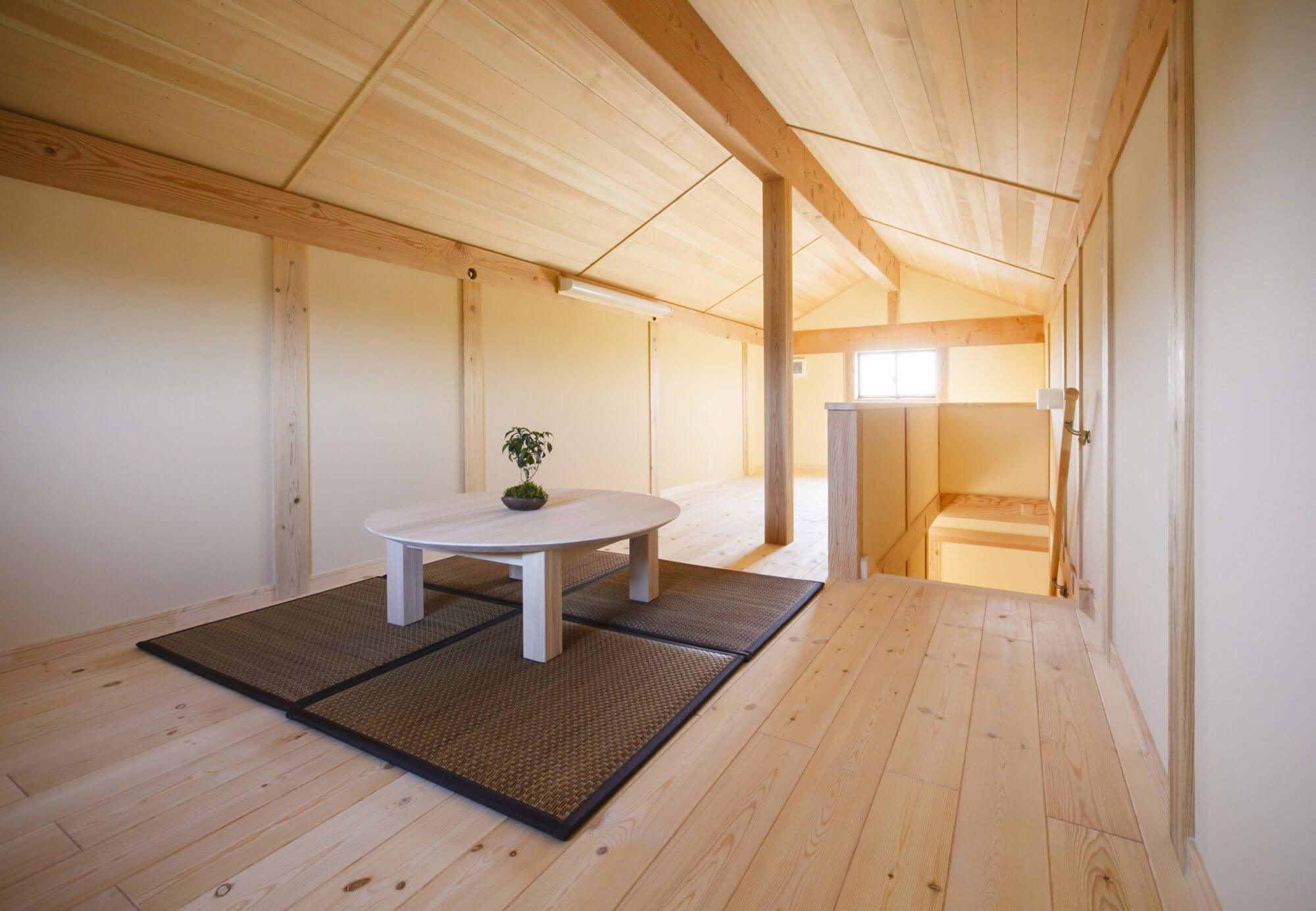 つくばで注文住宅・木の家を建てるベースポイントのロフト画像
