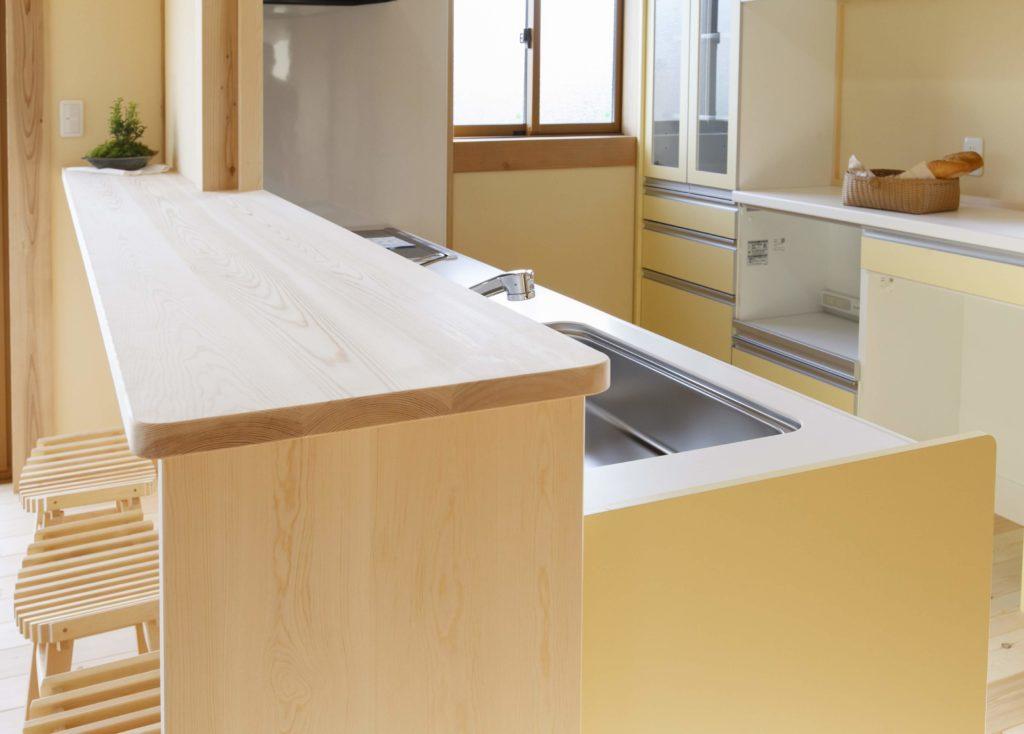 キッチンカウンター_つくばみらい市で新築ならベースポイント