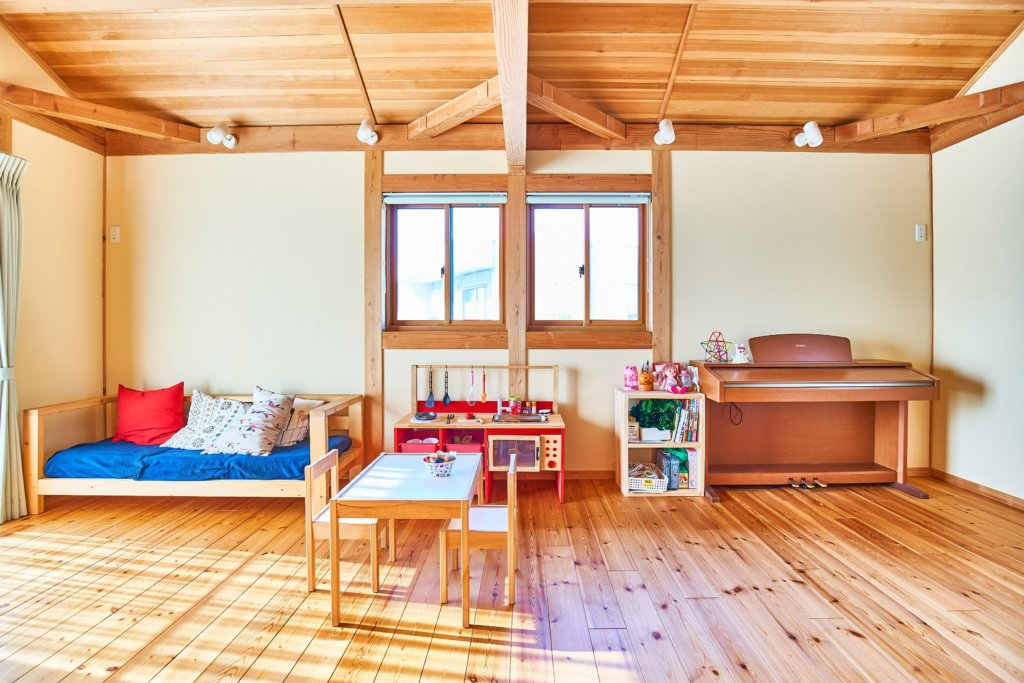 つくばで子育て世代の家を手掛けるベースポイントの子供部屋の例