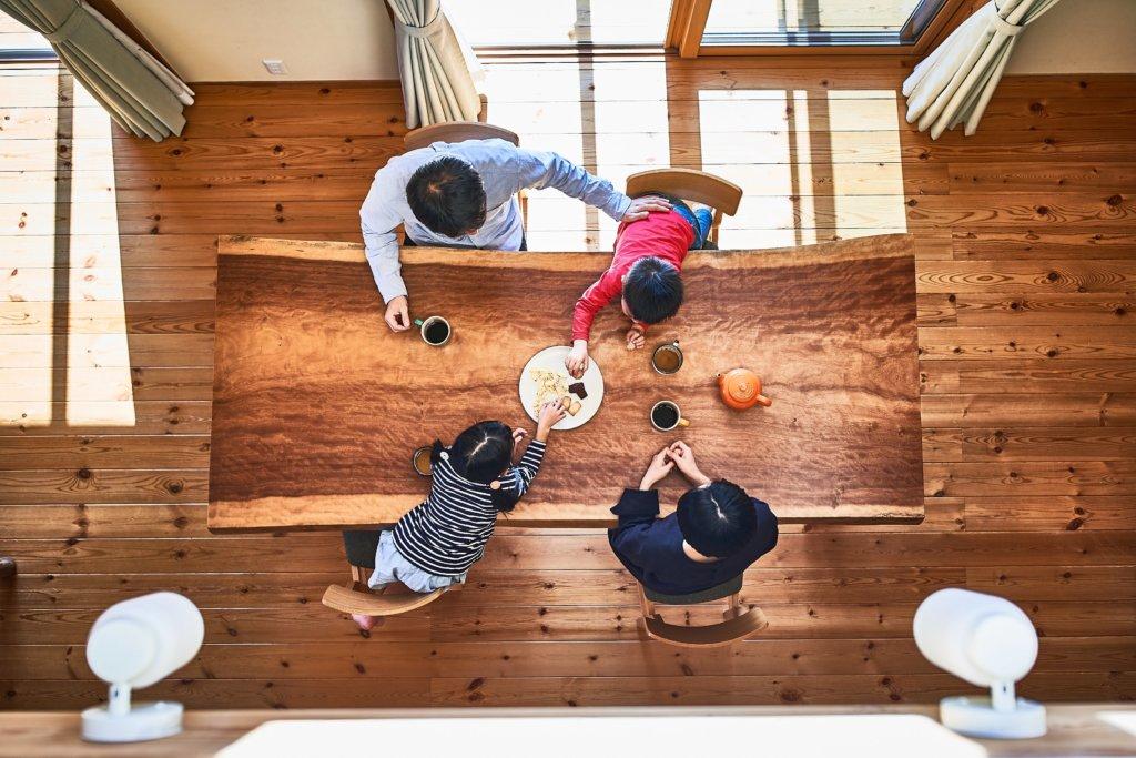 つくばで注文住宅・木の家を手掛ける工務店ベースポイントの吹き抜け画像