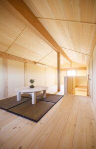 つくばで注文住宅・木の家を建てる工務店ベースポイントの小屋裏