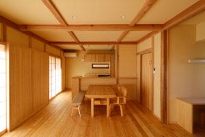 つくばで注文住宅・木の家を建てる工務店ベースポイントの和モダンダイニング