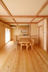 つくばで注文住宅・木の家を建てる工務店ベースポイントのLDK画像