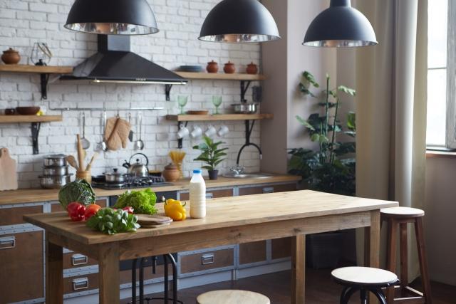 対面風の壁付けキッチン_つくばで家事動線の良い家をつくるベースポイント