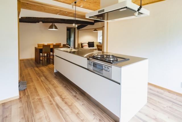 アイランドキッチンのイメージ_つくばで家事動線の良い家ならベースポイント
