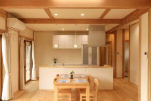 キッチン・家事動線にこだわるつくばの工務店ベースポイントのオープンキッチン事例
