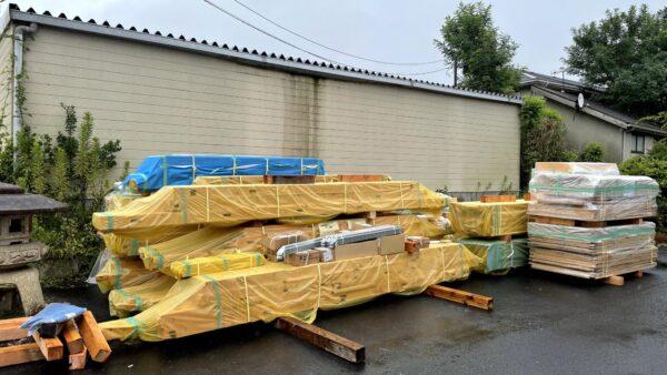 茨城県で木の家を建てるベースポイントのプレカット材写真