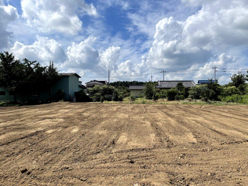 茨城県で新築一戸建てを手掛けるベースポイントの整地風景