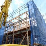 茨城県で無垢の家を建てるベースポイントの建て方現場
