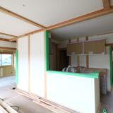 茨城県で新築一戸建てを手掛けるベースポイントの工事現場の様子