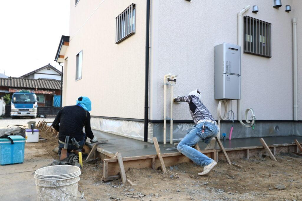 つくばみらい市の工務店ベースポイントの左官工事の写真