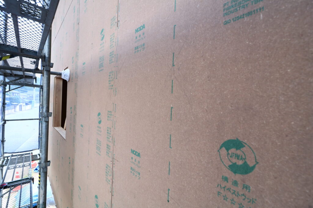 つくばみらい市の工務店ベースポイントが施工する耐震面材