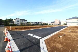 つくば市でベースポイントが注文住宅を建てる敷地の現場写真