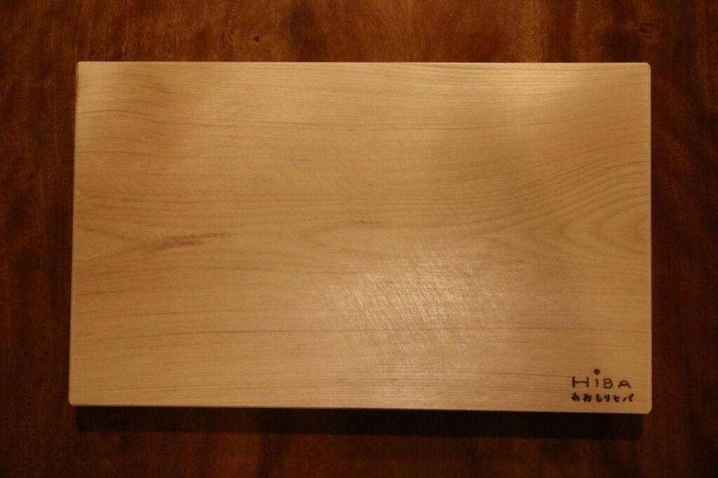 つくばみらい市の木の家専門店ベースポイントで使っている青森ヒバのまな板