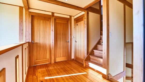つくばみらい市の木の家専門店ベースポイントのドア写真